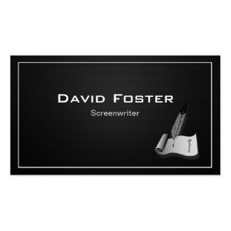Screenwriter in film television theatrical Script Business Cards