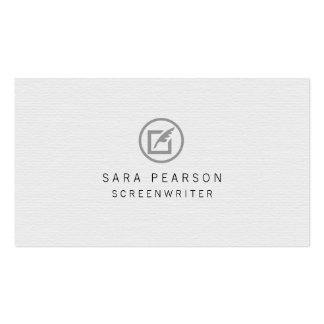 Screenwriter Paper Quill Icon Publishing Pack Of Standard Business Cards
