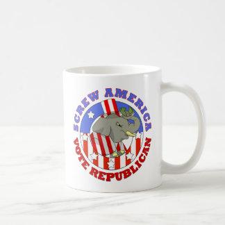 Screw America Vote GOP Mug