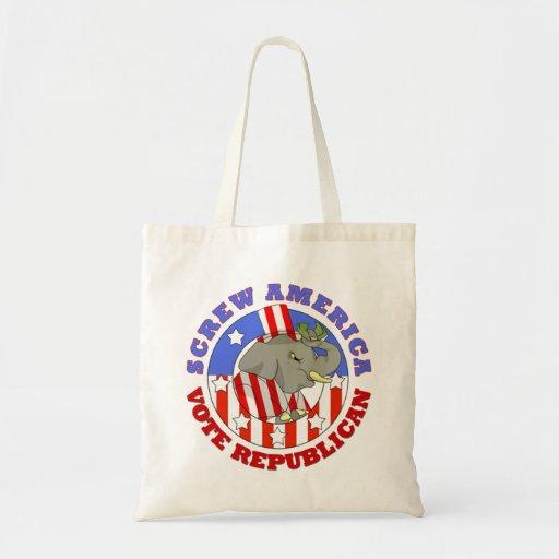 Screw America Vote GOP Tote Tote Bag