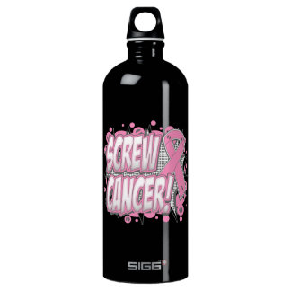Screw Breast Cancer Comic Style SIGG Traveller 1.0L Water Bottle