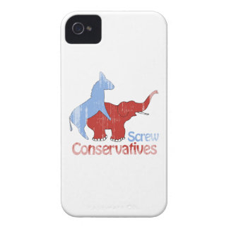 Screw Conservatives Faded Case-Mate iPhone 4 Case