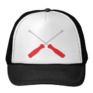 screw driver crossed tools cap