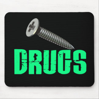 Screw Drugs Light Green Mouse Pad