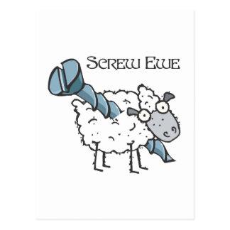 screw ewe postcards