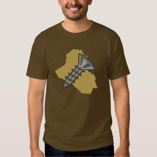 Screw Iraq in brown XL Tee Shirt