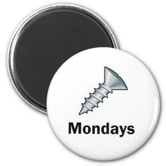 Screw Mondays Fridge Magnets