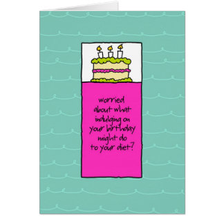 Screw the Carbs Birthday Cake Card