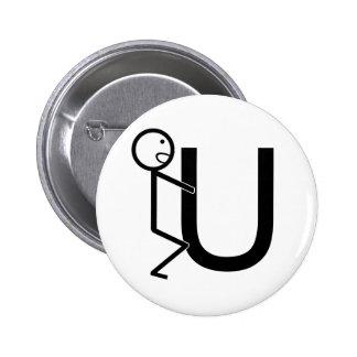 Screw U Funny Stick Figures 6 Cm Round Badge