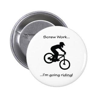 Screw Work-Mountain Biking 6 Cm Round Badge