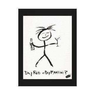 Screwballs™ DryRedDryMartini Canvas Art