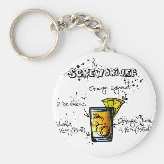 Screwdriver Cocktail Recipe Key Ring