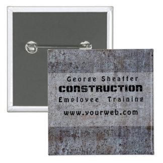 Screwed On Grunge Cement Modern Minimalist 15 Cm Square Badge