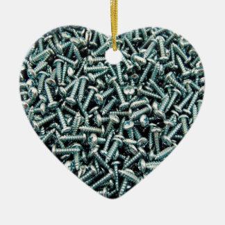 Screws Ceramic Heart Decoration