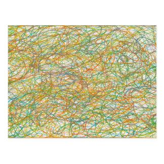 scribble art postcard