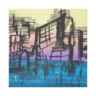 Scribble City Squared Canvas Print