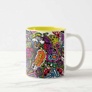 Scribble from my mind Two-Tone mug