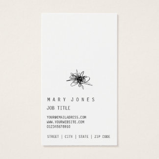 Scribble minimal and moder business card