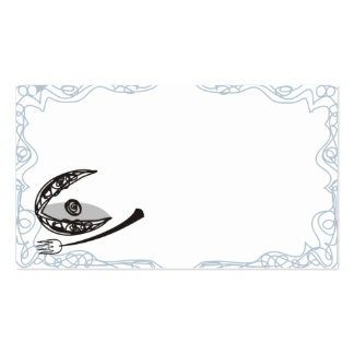 Scribble oyster clam seafood forks catering restau business card template