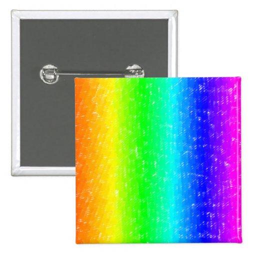 Scribble Rainbow Pinback Button