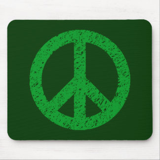 Scribble Stencilled Peace Symbol Mouse Pads