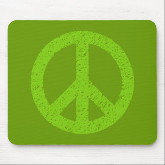 Scribble Stencilled Peace Symbol Mousepad