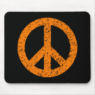 Scribble Stencilled Peace Symbol Mousepads