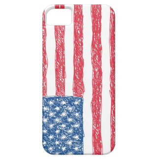 Scribble Style American Flag iPhone 5 Cover