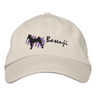 Scribbled Basenji Embroidered Hats