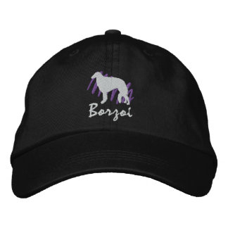 Scribbled Borzoi Embroidered Hats