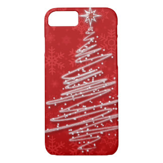 Scribbled Christmas Tree iPhone 7 Case