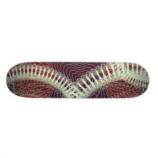 Scribbled Design dark red Skate Board Decks