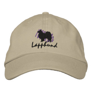Scribbled Finnish Lapphund Embroidered Hat