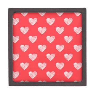 Scribbled hearts premium trinket boxes