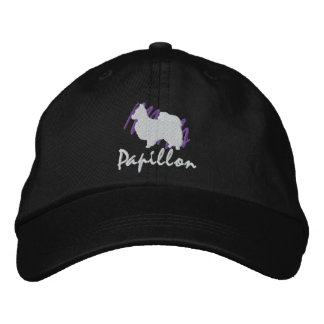Scribbled Papillon Embroidered Hats