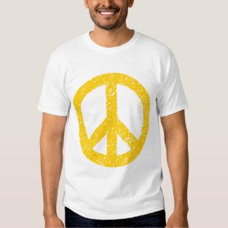 Scribbled Peace Symbol - Amber Tshirt