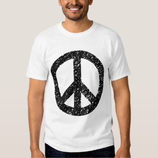 Scribbled Peace Symbol - Black Shirts