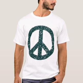 Scribbled Peace Symbol - Dark Green T-Shirt
