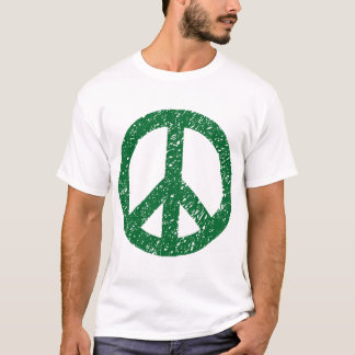 Scribbled Peace Symbol - Forest Green T-Shirt