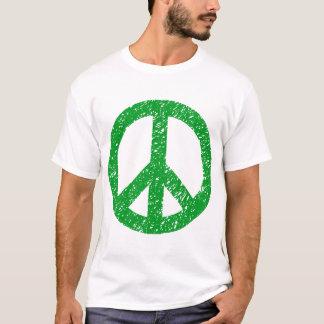 Scribbled Peace Symbol - Grass Green T-Shirt