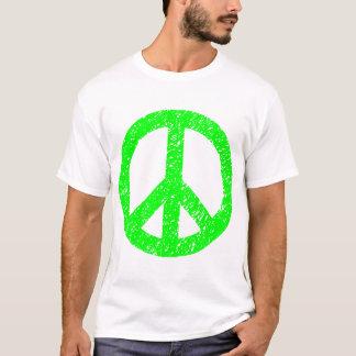 Scribbled Peace Symbol - Green T-Shirt