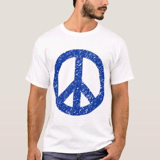 Scribbled Peace Symbol - Navy Blue T-Shirt