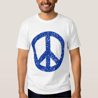 Scribbled Peace Symbol - Navy Blue Tshirts