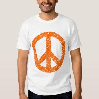 Scribbled Peace Symbol - Orange Shirts