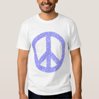 Scribbled Peace Symbol - Pastel Blue T Shirts