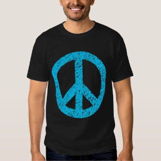 Scribbled Peace Symbol - Sky Blue Tshirts