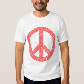 Scribbled Peace Symbol - Tropical Pink Tee Shirts