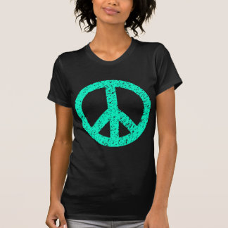 Scribbled Peace Symbol - Turquoise Tees