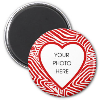 Scribbleprint Heart Border Magnet Template