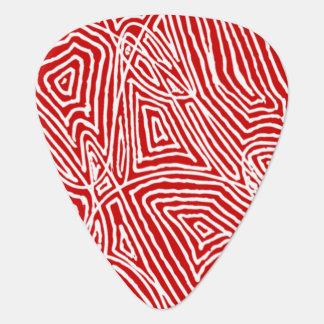 Scribbleprint - Red Guitar Pick
